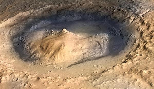 кратер гейла место посадки кьюриосити