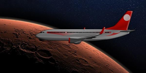 перелет между планетами на самолете