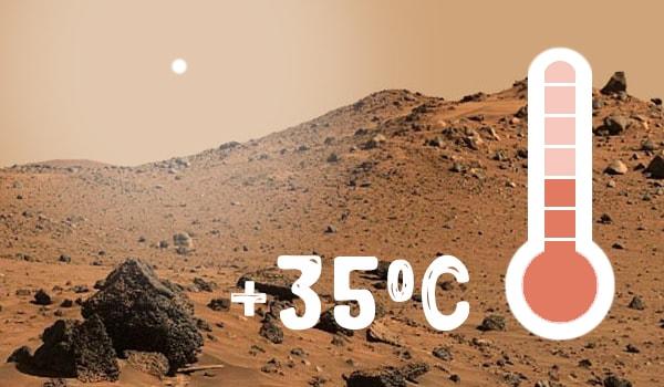 температура на марсе днем