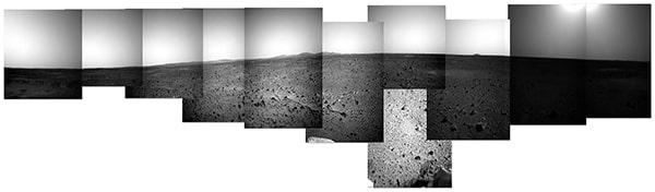 панорама марса из снимков