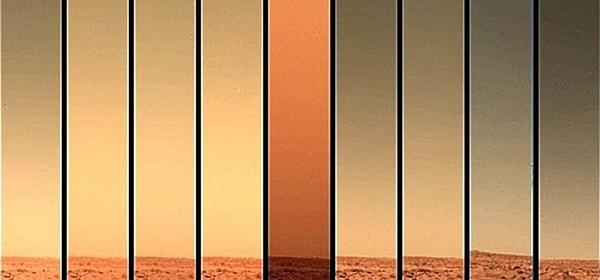 какое небо на марсе
