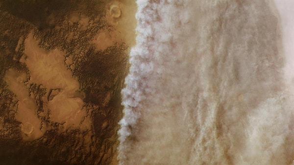 марсианские пейзажи буря