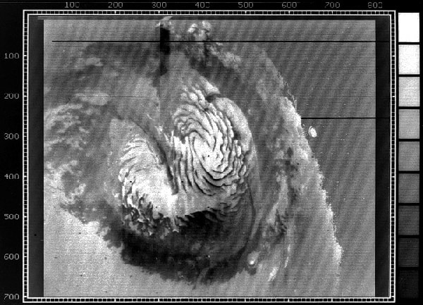 первый снимок полярной шапки марса