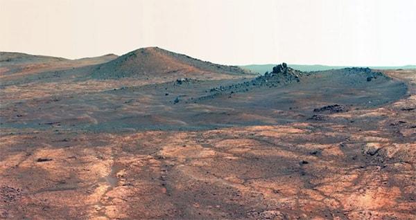 вытянутый кратер Дух Сент-Луиса