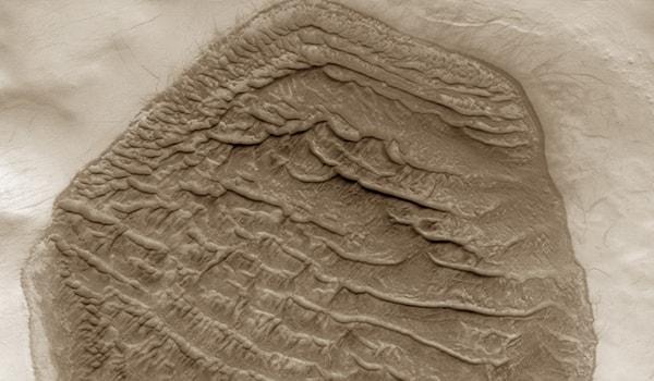 песчаные дюны марса