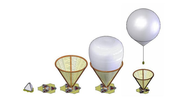 воздушное путешествие на шаре по марсу
