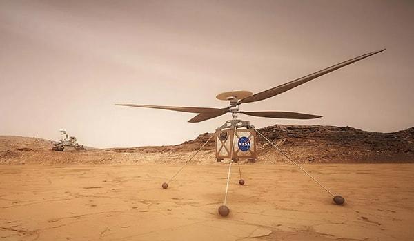 марс мини вертолет испытания