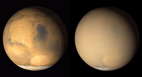 марс во время бури