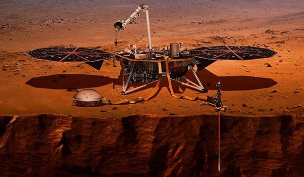 нахождение землетресения на марсе