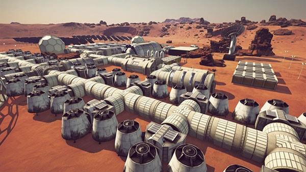научная база на марсе