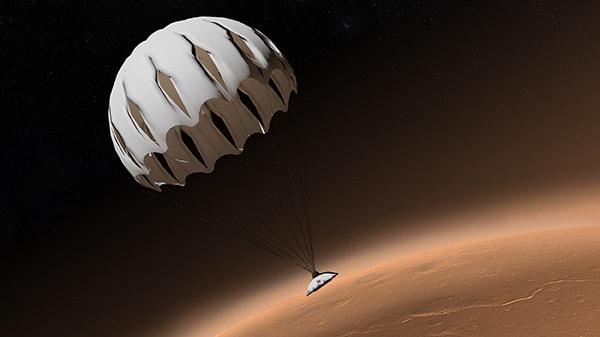 парашутная посадка на марс