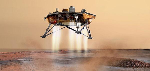 приземление на марс