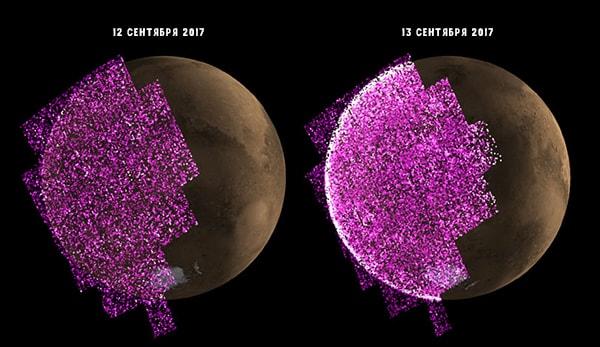 планетарное сияние на марсе