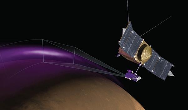 полярное сияние на марсе