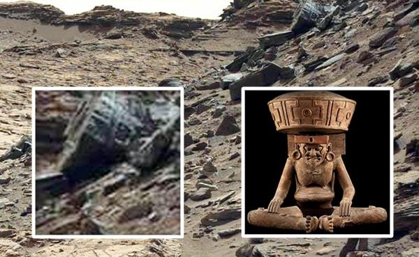 цилиндрический объект на марсе
