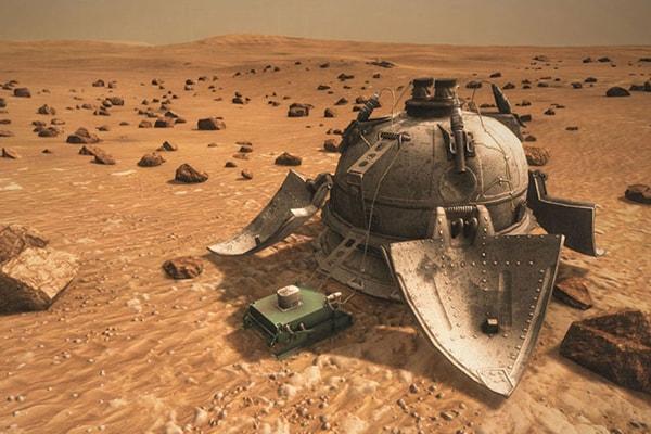 спускаемый аппарат с марсоходом