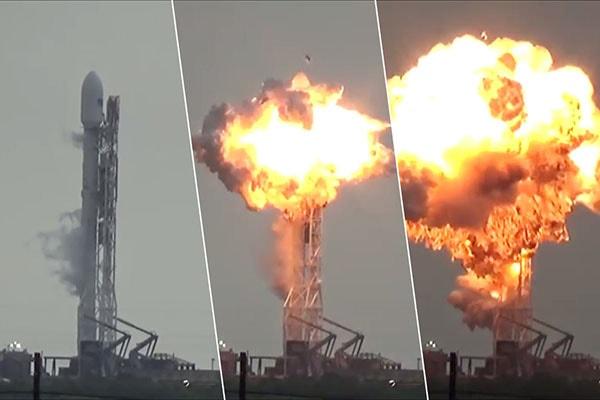взрыв ракеты на старте