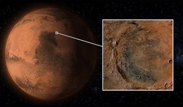 кратер езеро марс